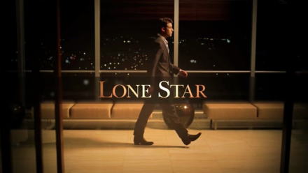 The Lone Star main titles, with Bob Allen (Jimmy Wolk) crossing an airport, suitcase in hand.