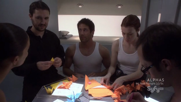 The Astraeus candidates fold paper cranes.