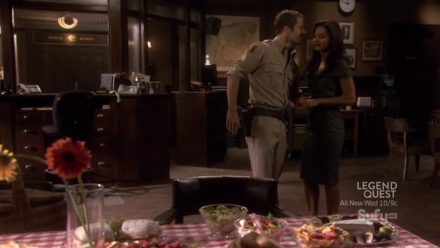 Carter (Colin Ferguson), Allison (Salli Richardson-Whitfield) and a picnic.