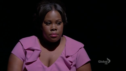 Mercedes (Amber Riley) all dolled up as Effie White.