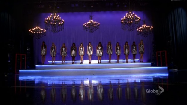 The Troubletones on stage.